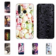 For Huawei nova 4 Cover Soft TPU Silicone Nova Case Romantic Floral Patterned nova4 Coque Shell