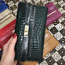 Kafunila luxury brand wallet women genuine leather deigner womens purse original Crocodile pattern fashion clutch bolsa