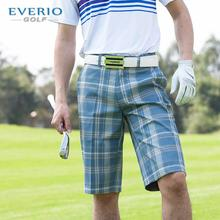 Summer golf shorts men british style plaid shorts knee-length trouseres golf breathable quick-drying sports short trousers