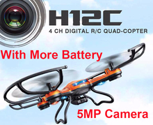 (With more battery) Original JJRC H12C Drone 6 Axis 4CH Headless Mode One Key Return RC Quadcopter with 5MP Camera (In stock)