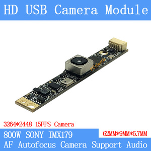 800 Вт SONY IMX179 AF Автофокус UVC Plug Play MJPEG 15FPS USB модуль камеры HD Linux Windows Поддержка аудио