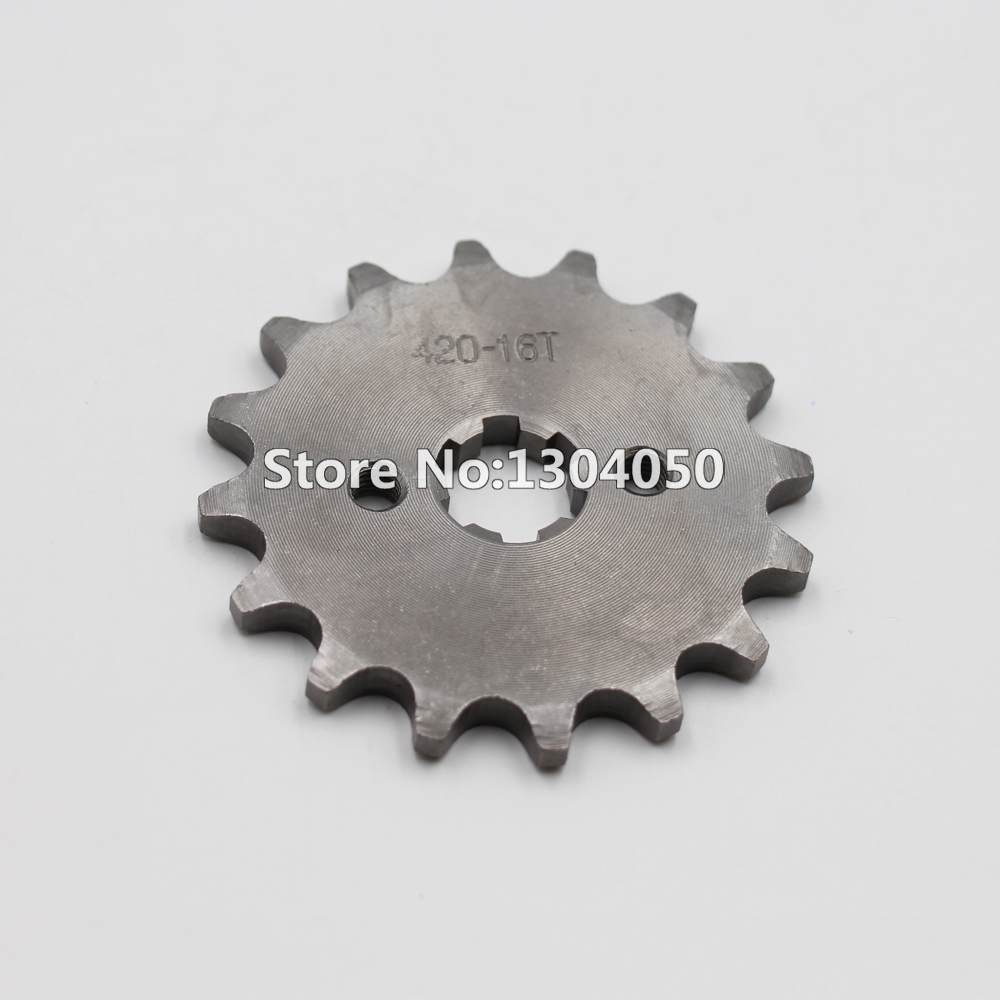 420 16 TOOTH 17MM Drive Front Counter Engine Sprocket SDG SSR 110 125 DIRT BIKE ATV Go Kart Lifan YX Loncin SSR new