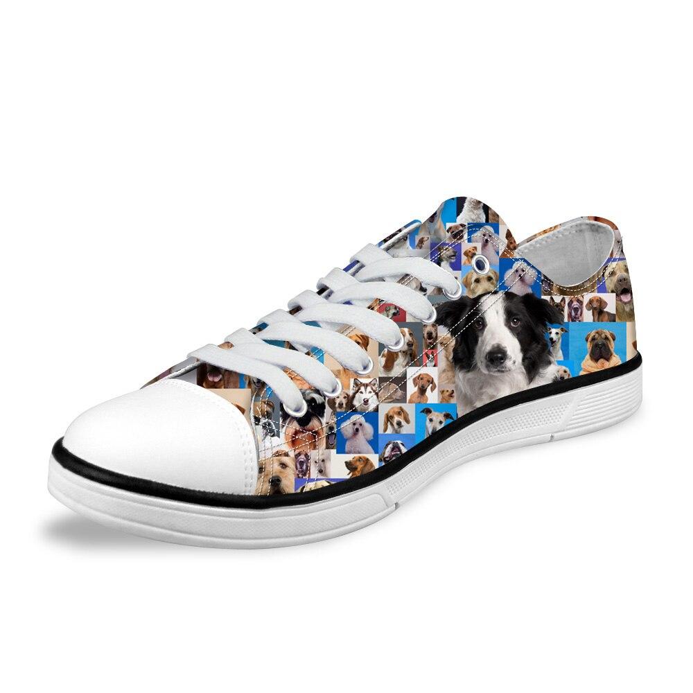 NOISYDESIGNS Men Shoes 3D Animal Boston Terer print Canvas Shoes for Man Male Classic Low Vulcanize Shoes Flats Shoes Sneakers
