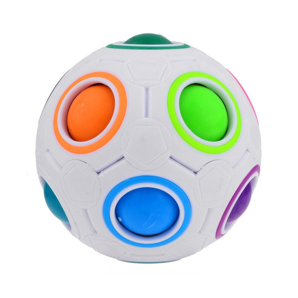 NEW Football Magic Cube Toys Speed Rainbow Puzzle Ball Funny Creative Kids Baby Educational Learning Toys For Children Gifts