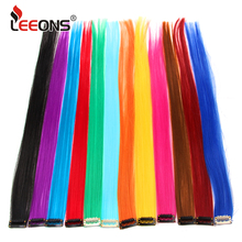 Leeons Clip-In One Piece For Ombre Hair Extensions Pure Color Straight