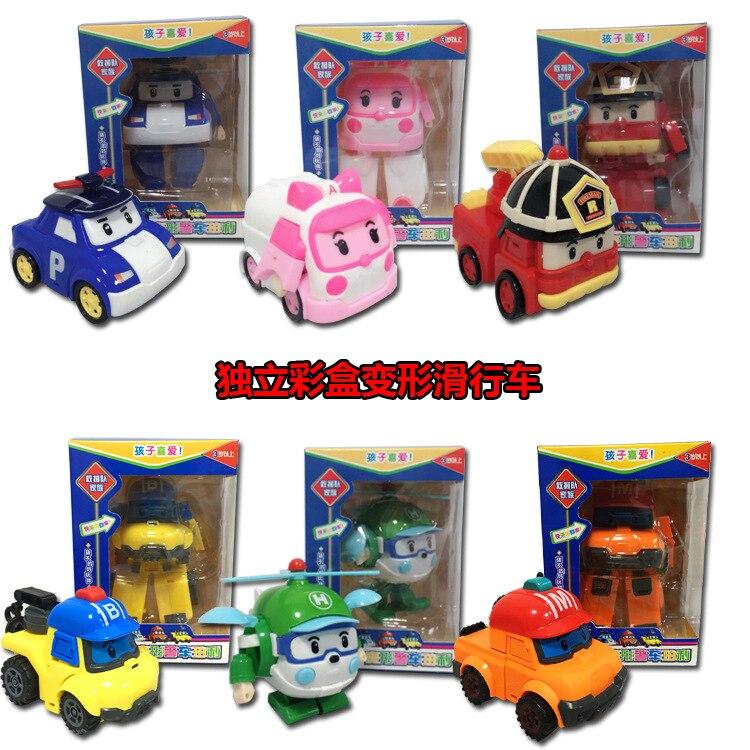 New Korea Q Version Children's Toys Poli Deformation Robot Toy Deformation Car