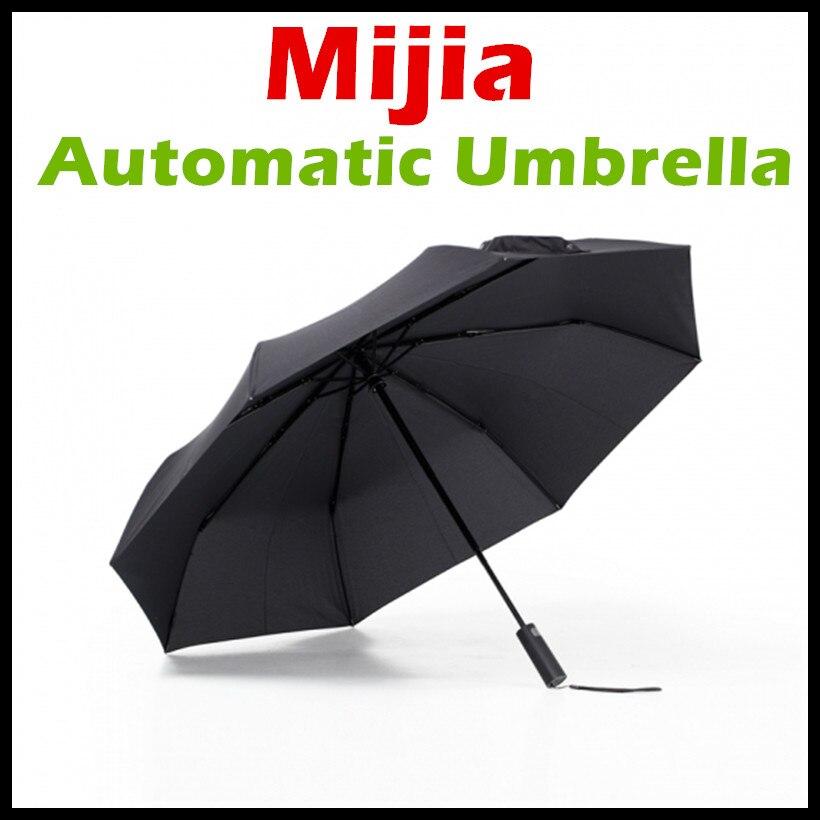 New Xiaomi Mijia Automatico Rovesci di Pioggia Umbrella Alluminio Antivento Impermeabile UV Ombrello Uomo Donna Per Smart Home Control