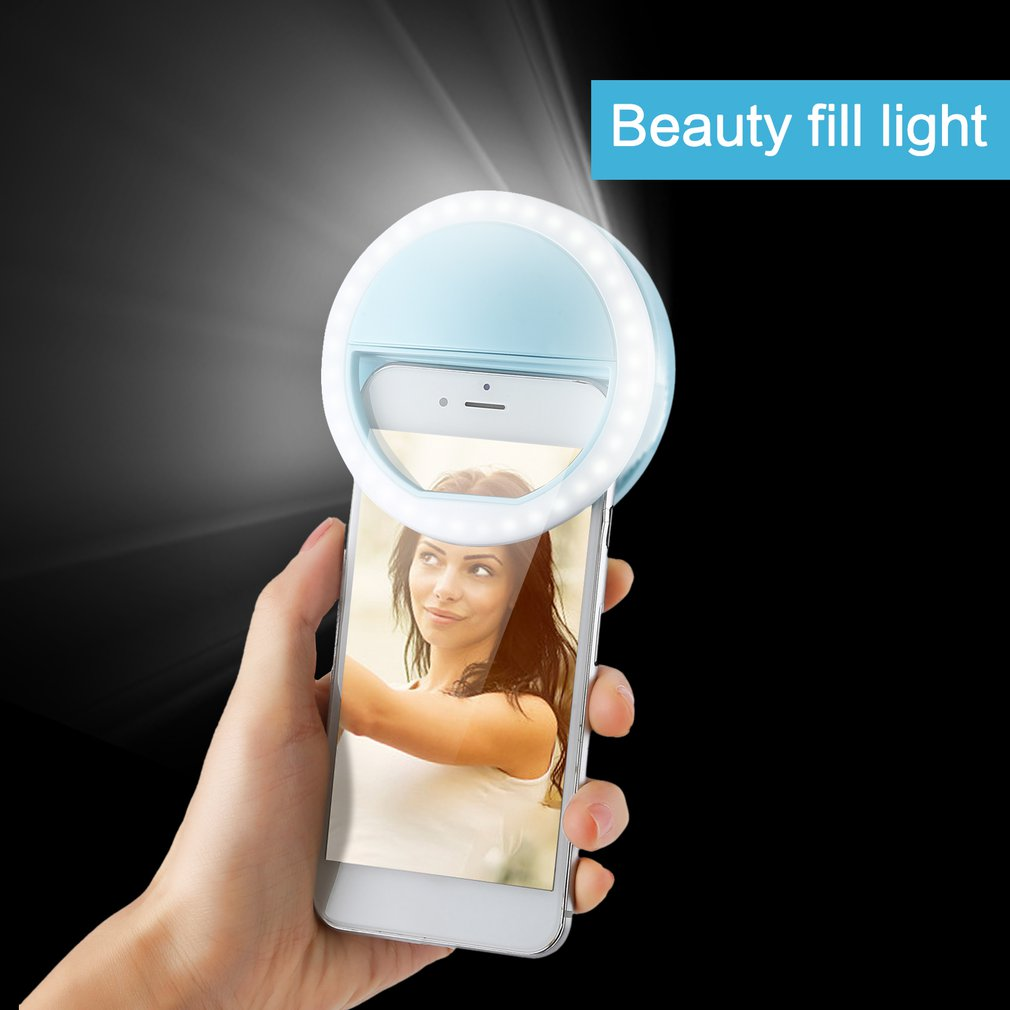 Mobile Phone Selfie Light Clip-On LED Ring Flash Light Camera Photography Phone Light For Iphone Samsung 3 Modes 36LEDs