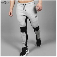 Men Fitness Pants Muscle Brothers Trousers Men S Autumn Winter Sports Stitching Slim Pants