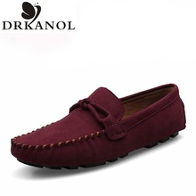 Genuine Leather Men's Flats Shoes Comfortable Driving Shoes Brand Luxury Fashion Casual Shoes Slip On Bowtie Gommino Loafers