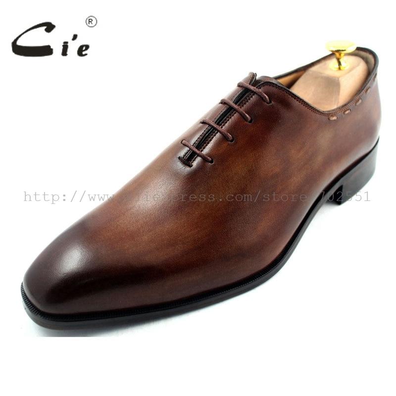 Cie/ ; мужские туфли-оксфорды ручной работы из натуральной телячьей кожи на заказ; коричневый цвет на шнуровке; OX193