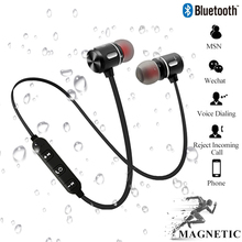 Magnetic Wireless Bluetooth Headset with Microphone