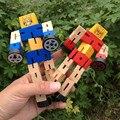 1 pcs Mais Novo Transformar Blocos de Construção de Brinquedos de Madeira Para Crianças Menino Jogo Montessori Educação Aprendizagem Precoce Brinquedo da Inteligência