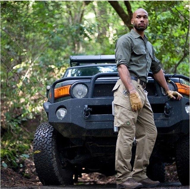 Tactical Hombres Militares Pantalones de Carga Multi Pocket SWAT Combat Pantalones
