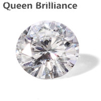 6 карат CT муассанит свободно камень 12 мм F Цвет Лаборатория Grown Алмаз отличный крой VVS1 ясно драгоценный камень как красиво как настоящий брил