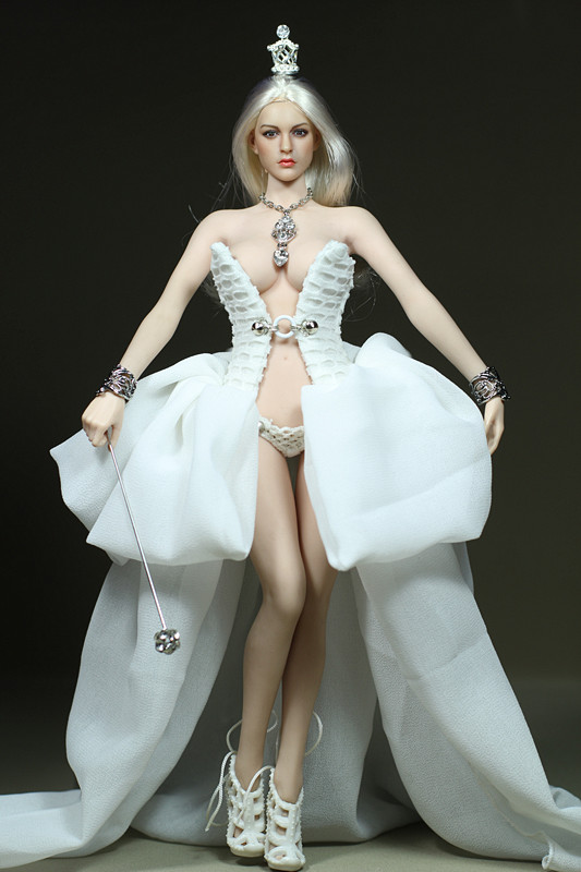 Mnotht Custom 1/6 White Swan Female Solider Dress Clothes Set Fit For PH HT Medium Chest Big Chest Auction Figures Body l30 sfat can 200l ht medium
