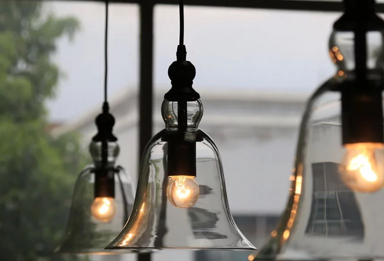 Aliexpress Buy Retro Vintage Industrial Style Bell Shape Glass Pendant Ceiling Lamp Light Bedroom Living Room E27 Home Restaurant Cafe From Reliable