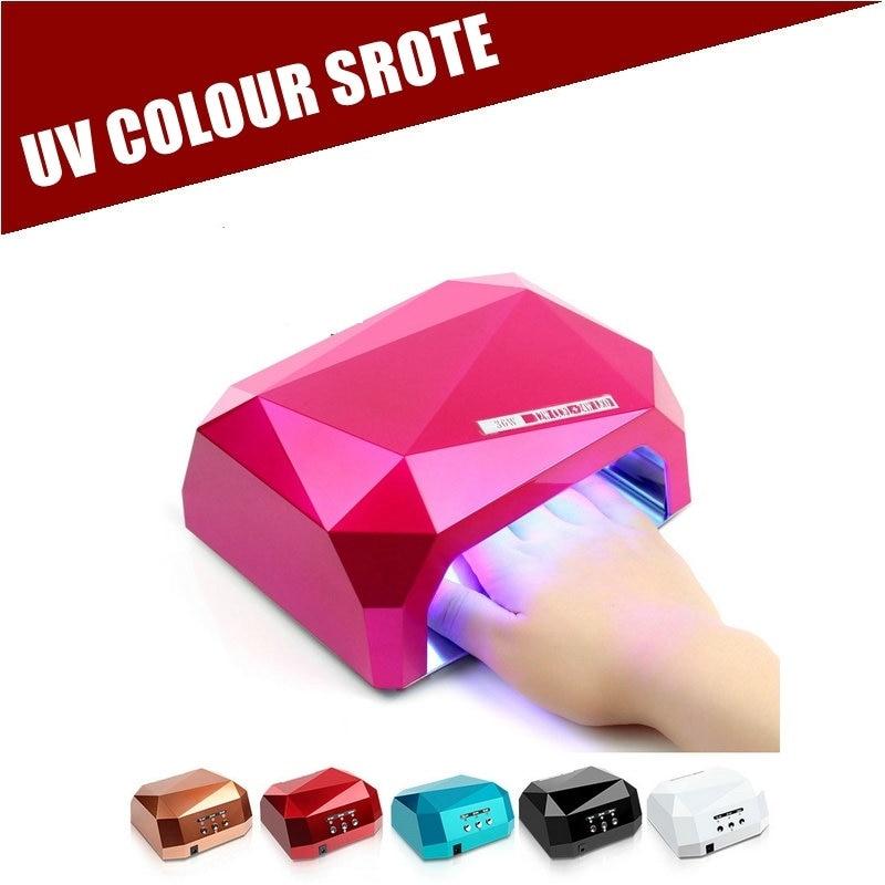 Nail Dryer&FREE SHIPPING Sensor 36W Diamond Shaped UV Lamp LED & CCFL Curing for UV Gel Nails Polish Nail Art Tools