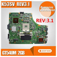 K53SV материнских плат REV 3,1 GT540M 2 ГБ для ASUS k53S X53S A53S K53SV K53SJ Материнская плата ноутбука K53SV плата K53SM материнская плата