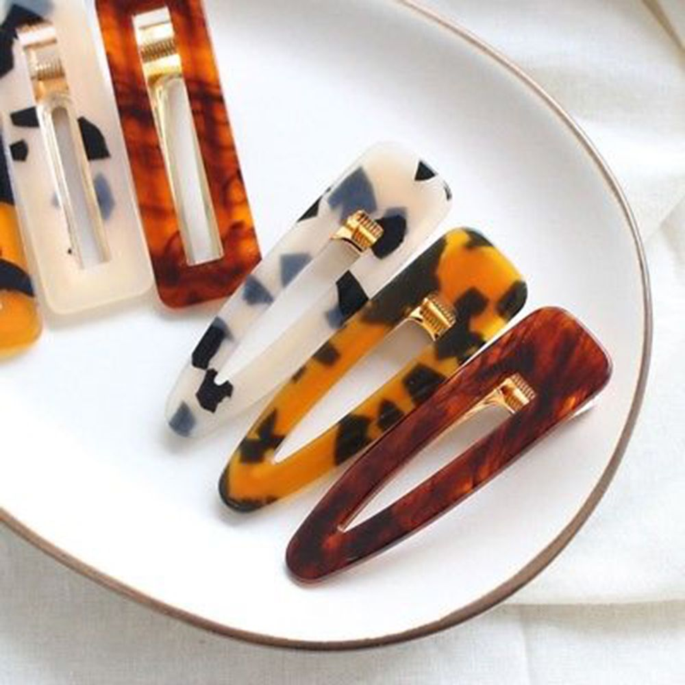 2019 New Women Vintage Leopard Hair Clip Hairband Comb Barrette Hairpin Accessories Hair Clips Beauty Styling Tools in Hair Clips Pins from Beauty Health