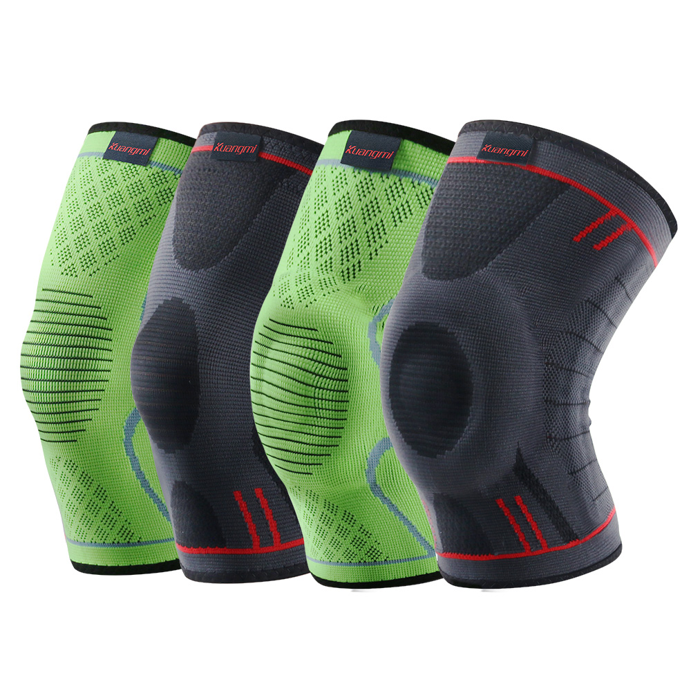 Kuangmi 1 PC Compression Knee Sleeve Basketball Knee <font><b>Pads</b></font> Knee Support Brace Sports Volleyball Patella Elastic Sports Protector