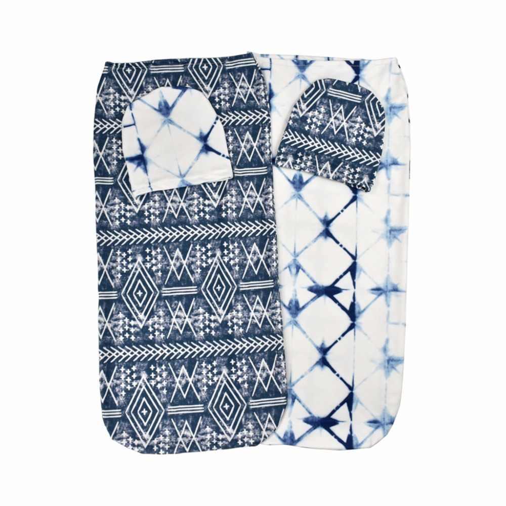 2 шт./компл. детское Пеленальное Одеяло + шапка конверт для Новорожденных Обертывание хлопковые пеленки мешок постельные принадлежности