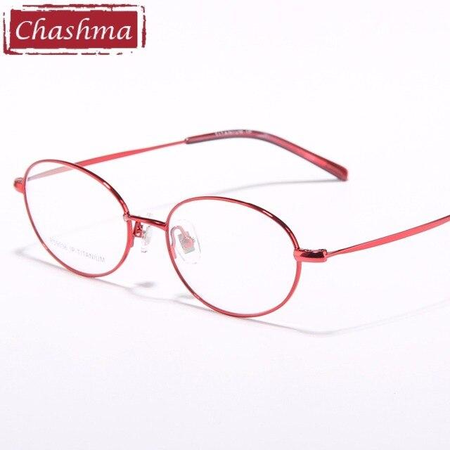 00a045cccf1 Chashma Brand Eyeglasses Women Vintage Glasses Ultralight Oval Small Face Glasses  Frame Titanium for Women