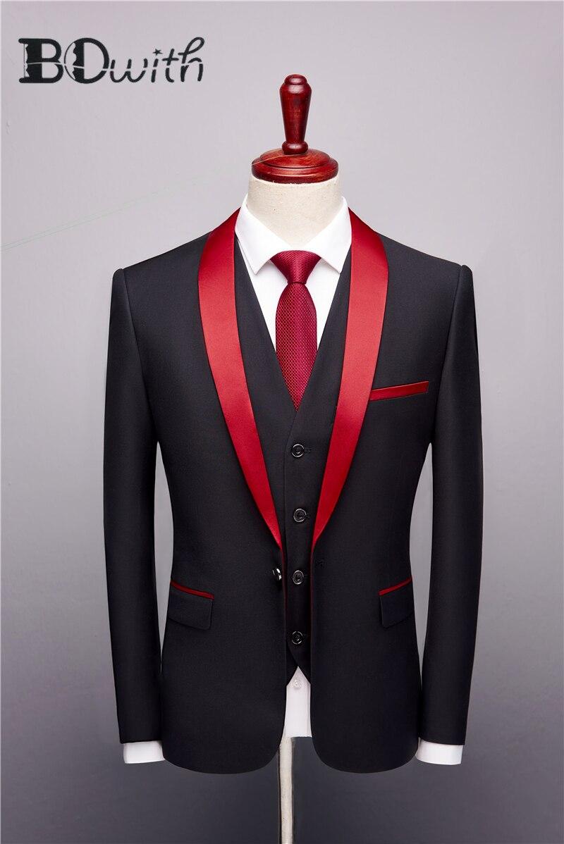 Plyesxale Black Suit Men 2018 Slim Fit Groom Wedding Suits For Men Stylish Brand Shawl Collar