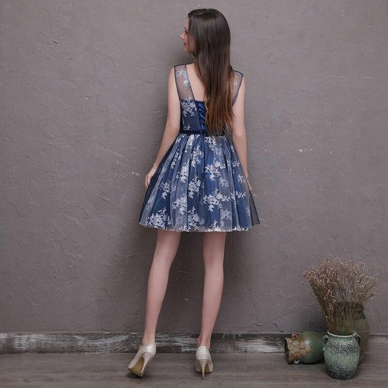 7bed54629 Ceewhy Bordado fiesta formal para damas corto azul marino Vestidos de dama  de honor vestido madrinha vestido de fiesta en Vestidos de dama de honor de  Bodas ...