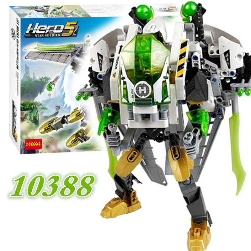 290pcs Decool 10388 Super Hero Factory 50 Jet Rocka Building