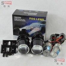 12V/35W xenon H3 fog lamp hid bulb 6000K fog light projector lens fog lights for car headlight hid xenon projector lens kit