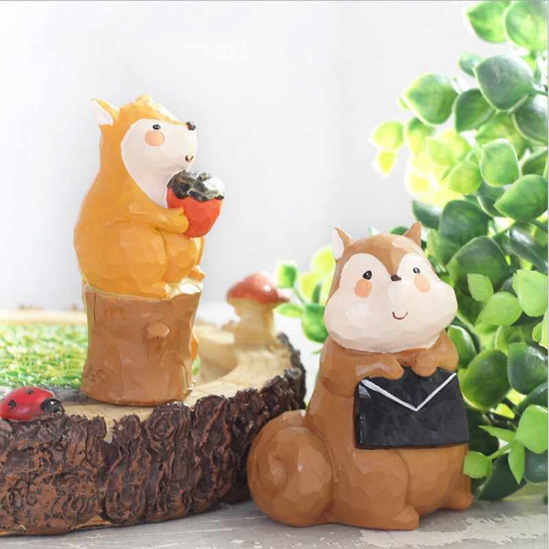 30pcs Resin Unicorn Figurines Micro Landscape DIY Flowerpot Bonsai Ornament