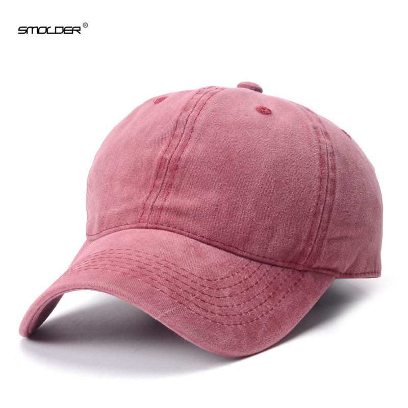 [SMOLDER] Top Brand New Solid Baseball Cap Fitted Cotton Snapback Caps Hip Hop Hats For Men Women 8 Colors Available