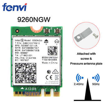 Dual Band Wireless-AC 9260NGW NGFF 1.73Gbps 802.11ac WiFi Card+Bluetooth For Intel 9260 8265NGW 7260AC NGFF 2.4G/5G Gaming Wlan - DISCOUNT ITEM  40% OFF All Category