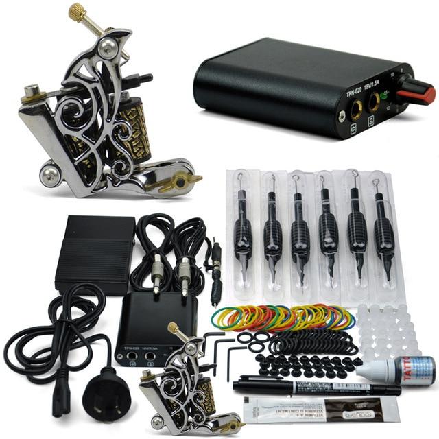 Professional Tattoo Kit 1 Gun Tattoo Machine Sets Power Supply