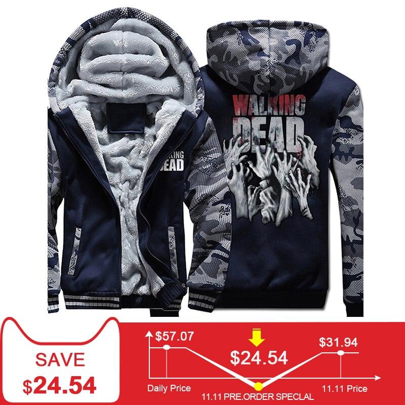 The Walking Dead felpe felpe con cappuccio 2018 primavera calda di inverno addensare con cappuccio hip hop marchio di abbigliamento harajuku felpa tute