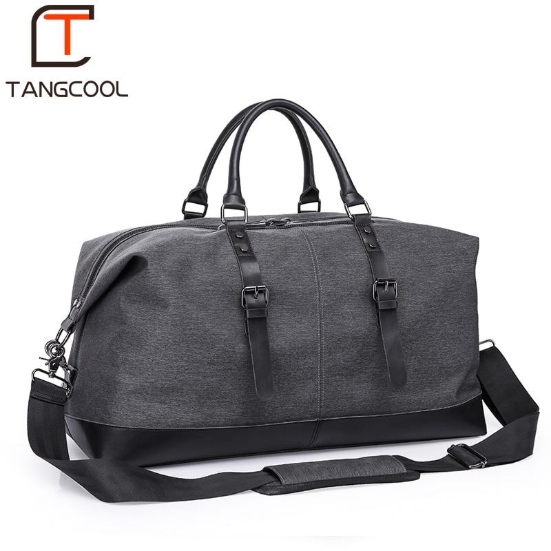 Tangcool Waterproof Travel Bag Large Capacity Men Hand Luggage Travel Duffle Bags Weekend Bags Men Multifunctional