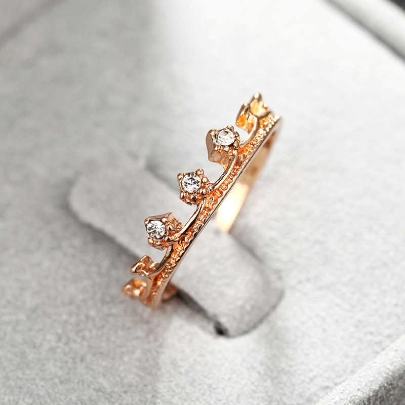 ใหม่แฟชั่น Charm ผู้หญิง Rhinestone Inlay แหวนเจ้าสาวงานแต่งงานงานแต่งงานแหวนเครื่องประดับแหวนขายส่ง