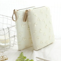 White Cloth Cover Butterfly Zipper Bag Style Journal DIY Diary 128 Sheets A6 Undated Daily Planner Gift School Office Supply