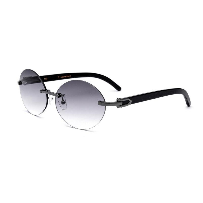 Naturel Corne Femmes lunettes de Soleil UV400 Sans Monture Lunettes Pour Femmes Vintage lunettes de Soleil Avec la Boîte, Cas Taille: 57-18-145mm
