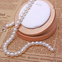 3 Colors 100 Natural Freshwater Pearl Necklaces 10mm AAA Freshadama Sharp Luster High Quality Pearl Neckless