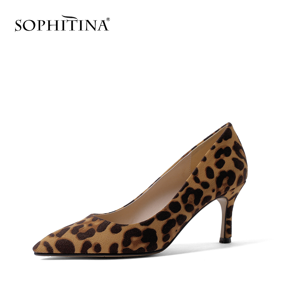 SOPHITINA New Fashion Pointed Toe Ladies Pumps New Office Slip On Shoes Basic High Thin Heel Outside Hot Sale Design Pumps MO183-in Women's Pumps from Shoes    3
