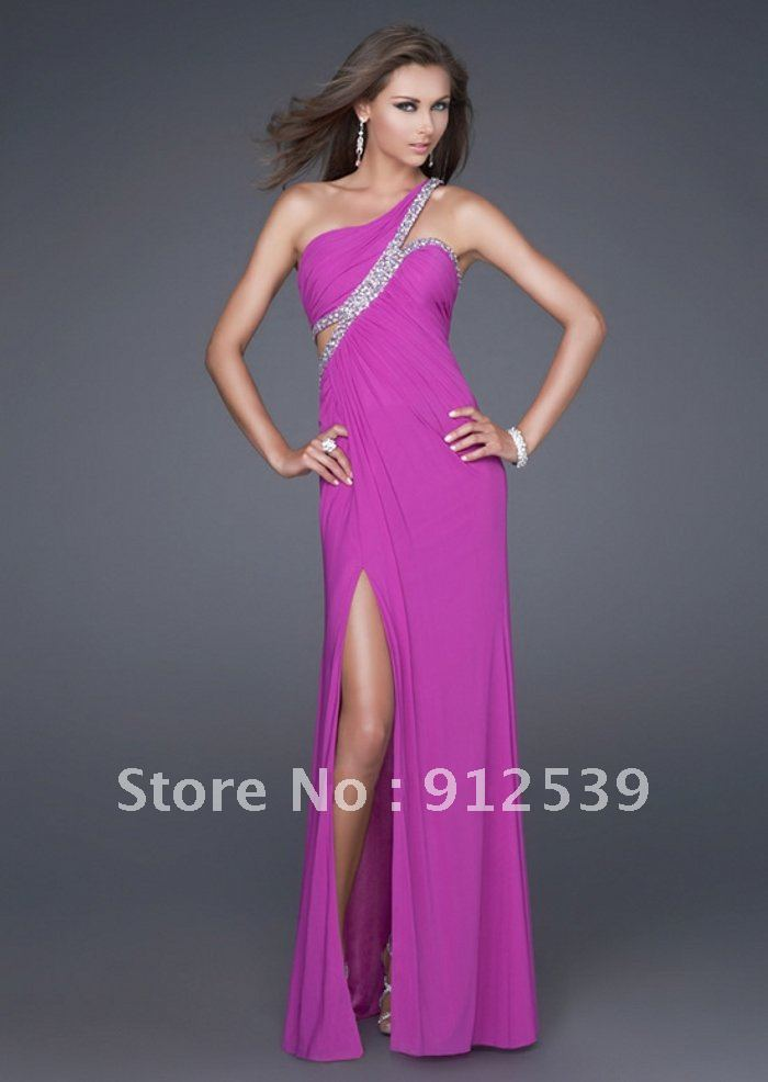 2013 mejores ventas sexy vestido de fiesta de un hombro con cuentas ...