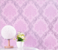 Paper Back Vinyl Floral Flower Design Modern Style PVC Self Adhesive Wallpaper For Interior House Decoration Wall Sticker