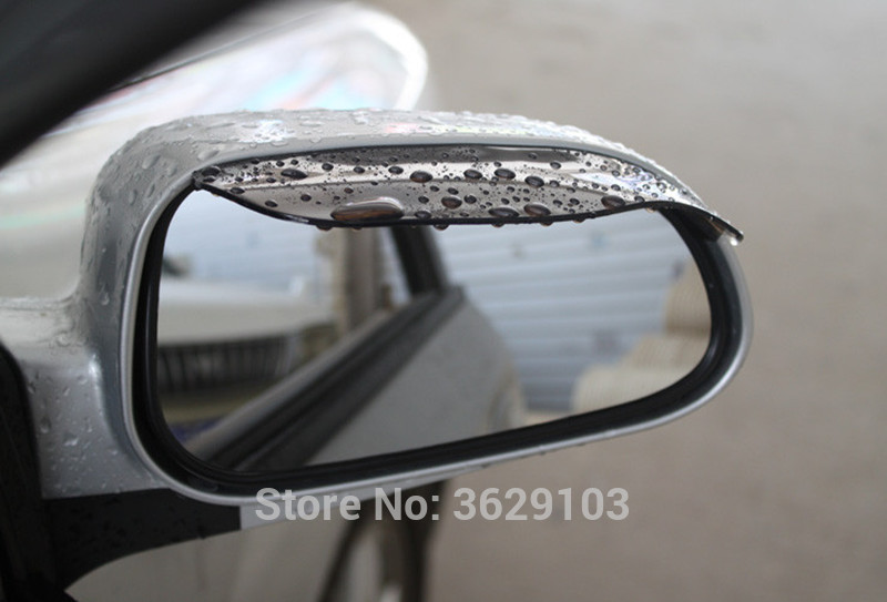 2pcs/lot PVC Car rearview mirror rain eyebrow stickers car-styling for Land Rover discovery 2 3 4 freelander 1 2 defender a9 a8
