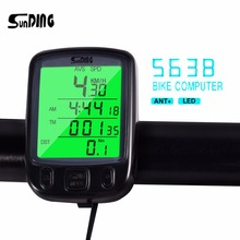 SunDing SD 563B Multifunction Bicycle Computer Waterproof Cycling Odometer Riding Speedometer With LCD Display Bike Accessories