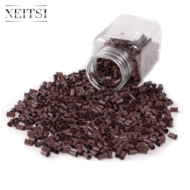 Neisti 1000pcs Micro Beads Hair Extensions Tools Without Silicone