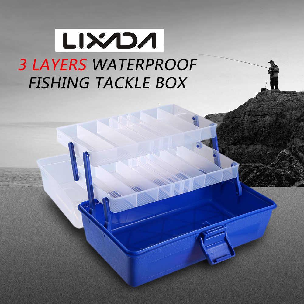 Lixada 3 طبقات للماء صندوق معالجة الصيد الصيد السنانير السحر الطعوم حقيبة للتخزين الأسماك Pesca اكسسوارات ل الكارب الصيد