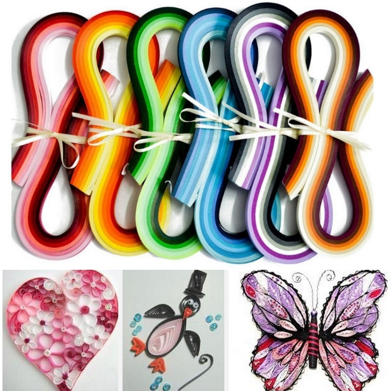 100pcs Stripes Quilling Origami Paper DIY Tool Hanmade Gift Create YU-Home