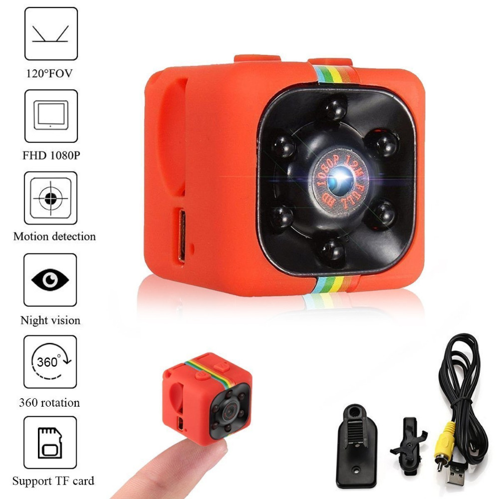 SQ11 Fotocamera HD 1080 P Visione notturna Videocamera Portatile Dell'automobile DVR Infrarossi carta di Tf di Sostegno Video Recorder Sport Fotocamera Digitale Per RC Drone